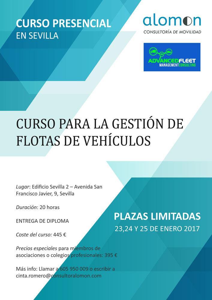 CURSO PRESENCIAL EN SEVILLA DE GESTIÓN DE FLOTAS DE VEHÍCULOS 23-24-25 ENERO 2017