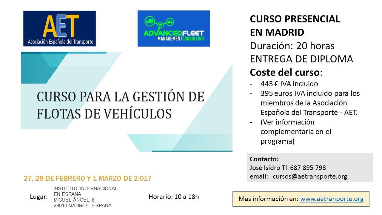 CURSO DE GESTION DE FLOTAS MADRID 27,28 DE FEBRERO 1 DE MARZO