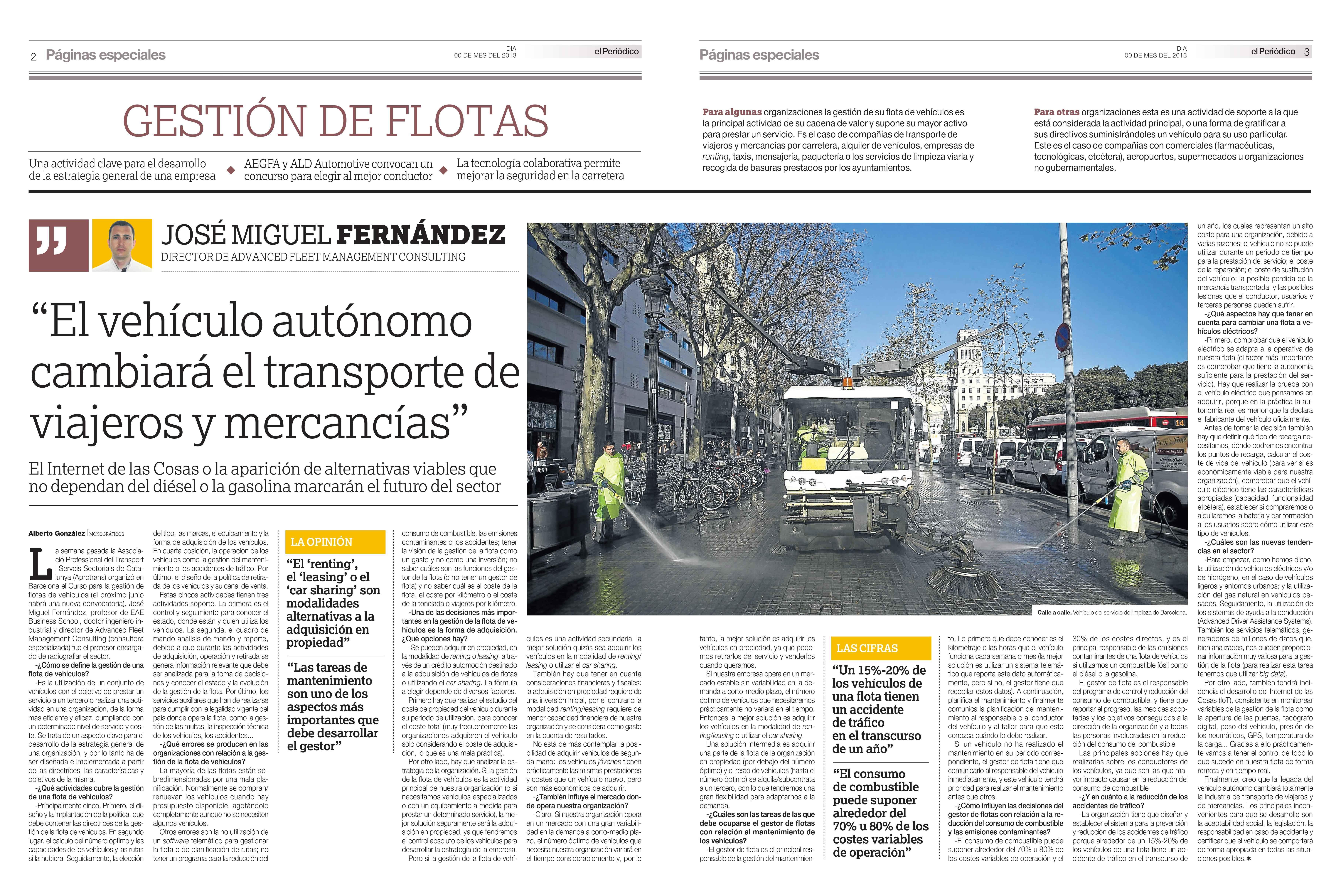 Artículo de gestión de flotas, Periodico de Catalunya 06042017