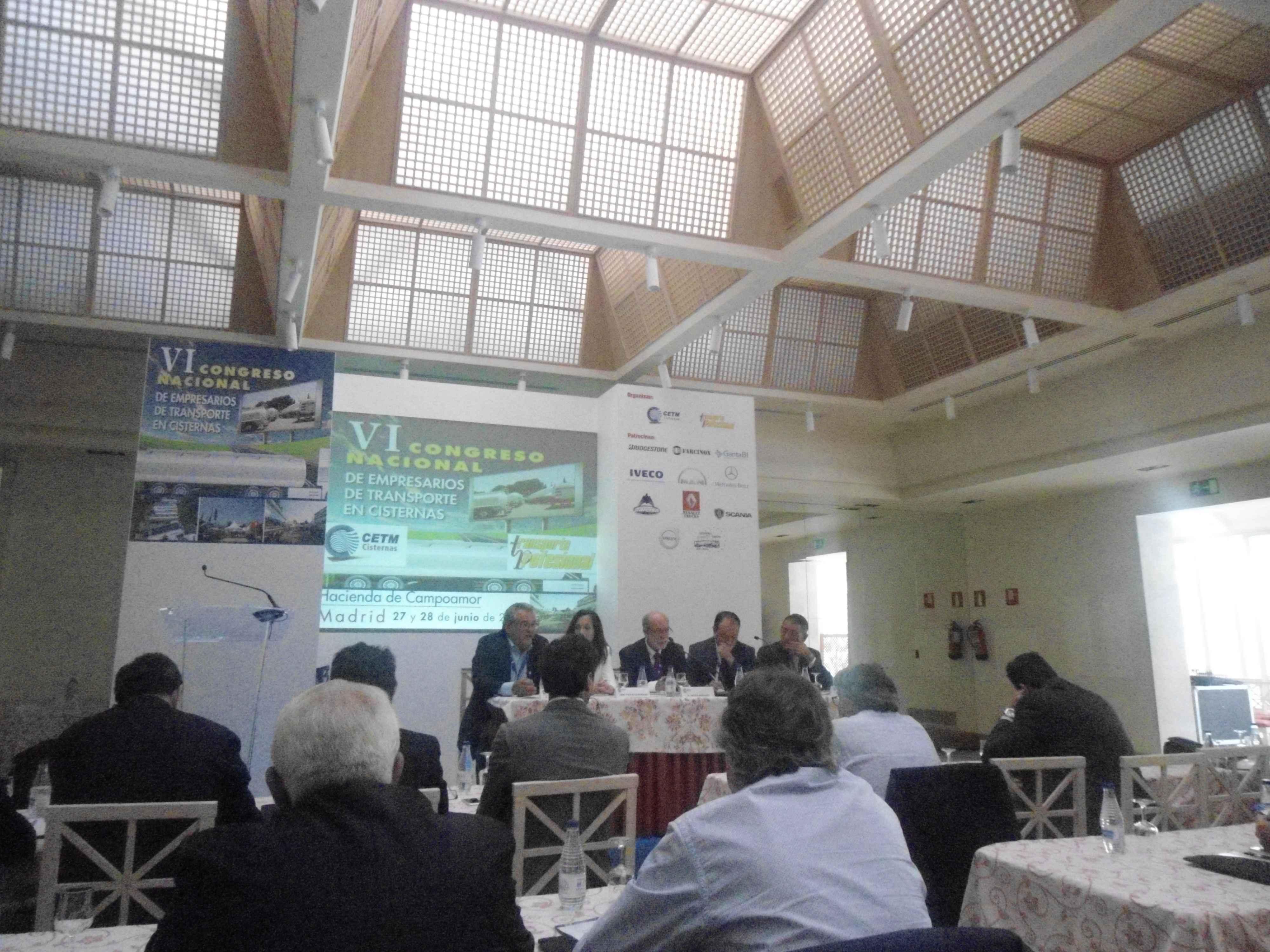 VI Congreso Nacional de Empresarios de Transporte en Cisternas, 27 y 28 de Junio en Madrid
