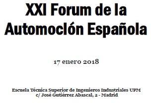 XXI Forum de la Automoción Española