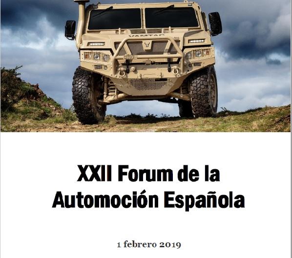 XXII FORUM DE LA AUTOMOCIÓN ESPAÑOLA- 1 de Febrero Madrid